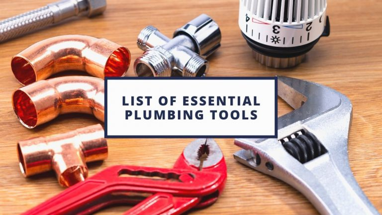 List of Essential Plumbing Tools